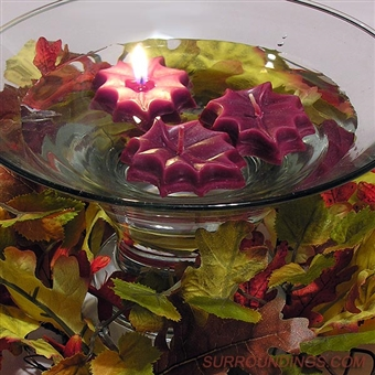 "2"" Mini Fall leaf floating candles"