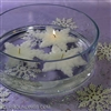 Snowflake floating candle