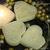 "3"" Glitter heart floating candles"