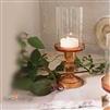 Glass Rose Glow Candle Holder