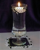 Black & white floating candle centerpiece