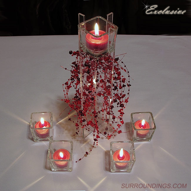 Cube riser candle centerpiece kit