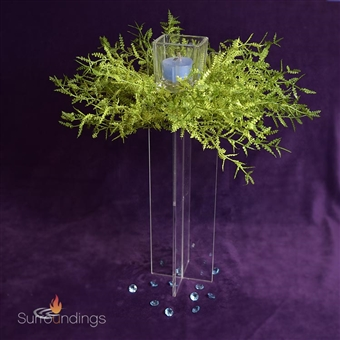 Votive Tower & Fern Burst Candle Centerpiece Kit