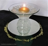 Ringed round floating candle centerpiece