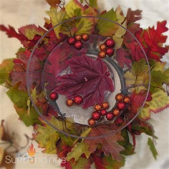 Fall ring floating candle centerpiece
