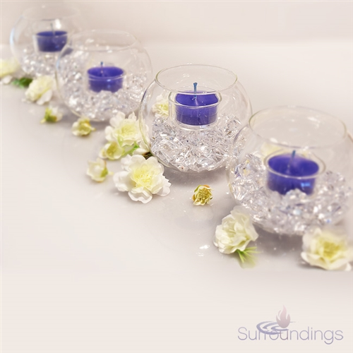 Tea Light Bubble Bowl & Cherry Blossoms Breakaway Centerpiece Kit