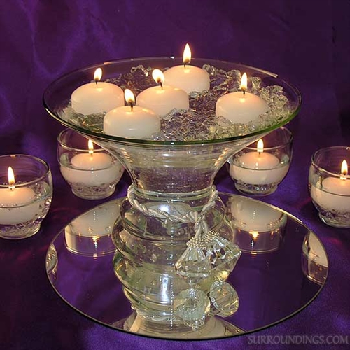 Flare diamond centerpiece floating candle kit