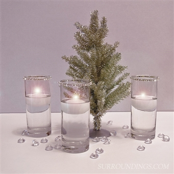 Tinsel Tree & Votive Cylinders Centerpiece Kit