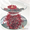 Red Beads & Poinsettia Centerpiece