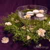 Feather Fern Goblet Floating Candle Centerpiece Kit