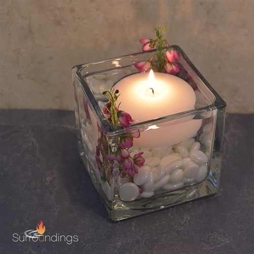 Baby Blossoms Square Floating Candle Centerpiece Kit