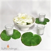 Lotus Leaf & Rose Candle Centerpiece Kit