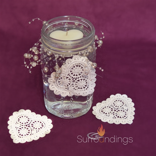 Petal Jar & Heart Floating Candle Centerpiece Kit