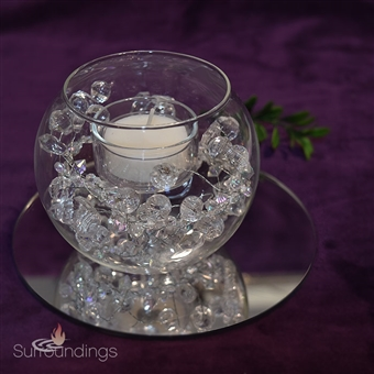 Bubble Crystal Candle Centerpiece Kit
