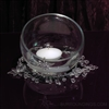 Acrylic Crystal Strand & Flower Floating candle centerpiece