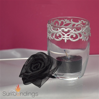 Fleur-de-lis & Rose Mini candle Centerpiece Kit