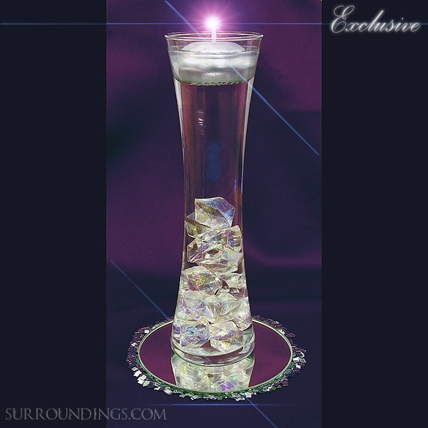 Hour vase acrylic crystal cpk floating candle centerpiece