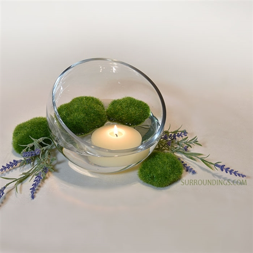 Lavender moss floating candle centerpiece kit