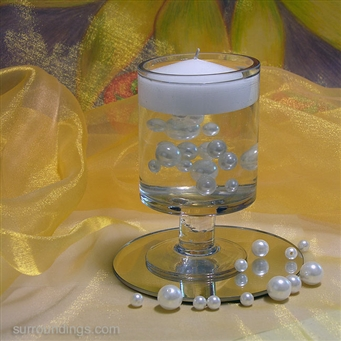 Floating Pearl Beads & Candle cpk