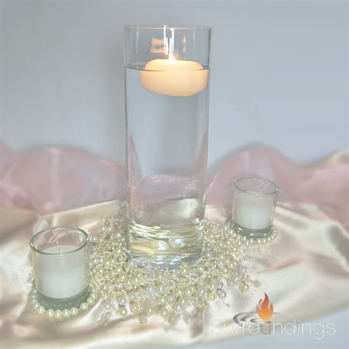 Pearl Ringed Candle Centerpiece kit