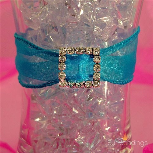 Diamond ribbon buckle