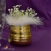 vase feather cuffs