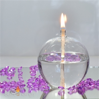 Infinite Sphere glass oil lamp