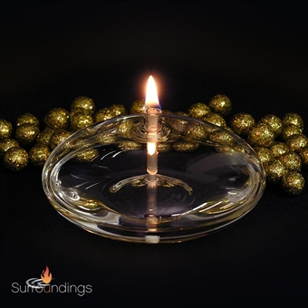 Eternal flame round floating oil lamp