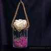 Hanging rope glass cylinder