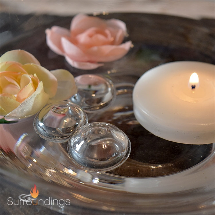 candles as wedding decor united with love.htm 1  floating glass bubbles for centerpieces  1  floating glass bubbles for centerpieces