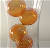 "2"" floating gold glass bubbles"