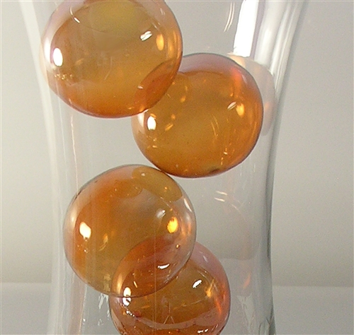 floating gold glass bubbles, 2""