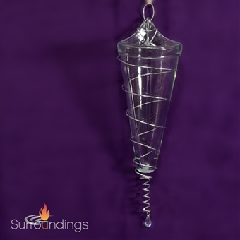 Glass cone sconce