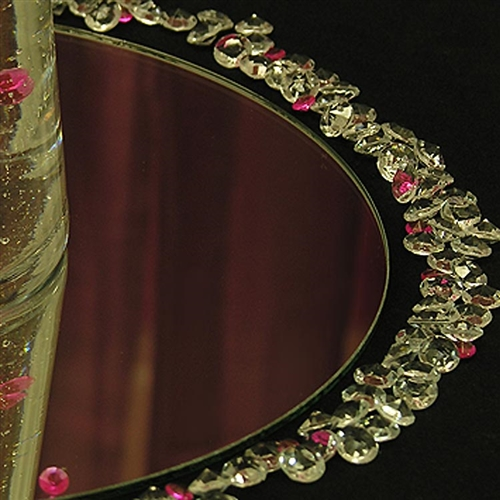 "12"" Round centerpiece display mirror"