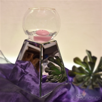 Pyramid Mirror centerpiece riser