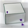 square mirror centerpiece riser