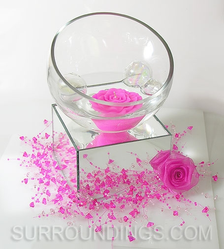 square mirror centerpiece risers