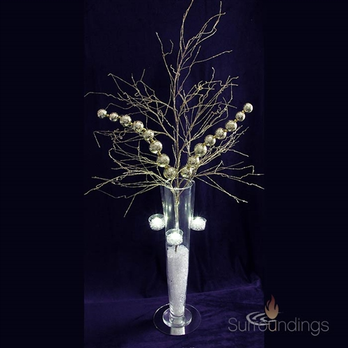 Glittered branch stem
