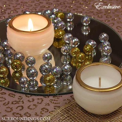 Gilded mini luminary floating candle
