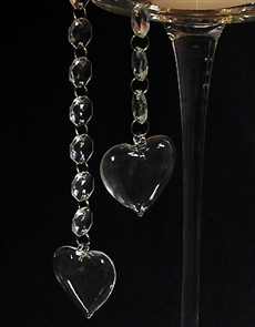 Set of three pillow heart dangles