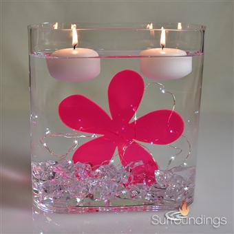 Raspberry Pink Retro Flower Shapes