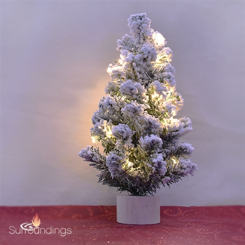 Flocked Centerpiece Tree