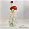 Pear Bud Vase with bunny tails