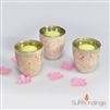 Pink Freckle Glass Votive Cup