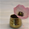 Ceramic Mini Golden Pot, 3""