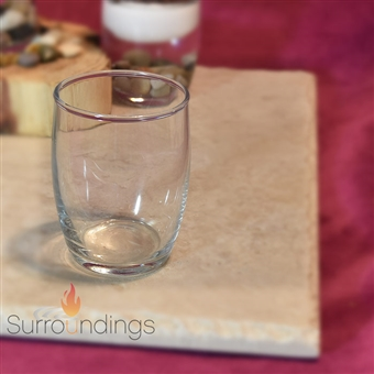 Clear Glass Barrel Votive Cup