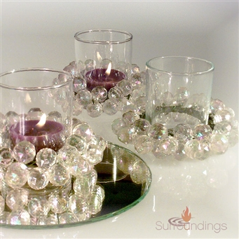 Beaded votive cup