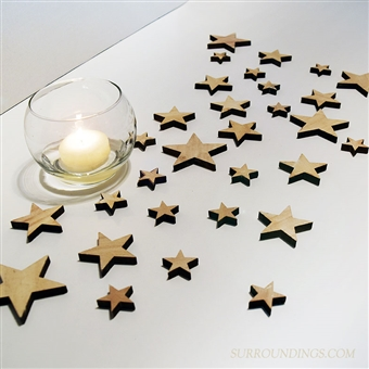 Wood Stars, Asstd / 30