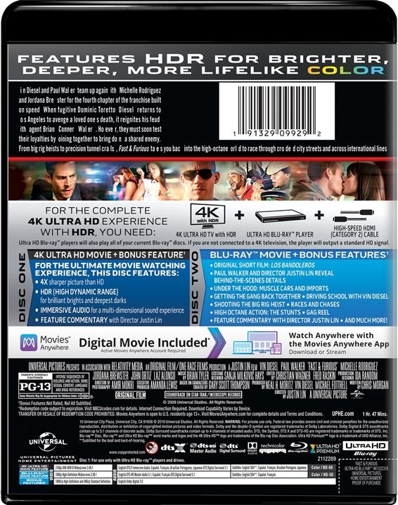 Fast & Furious (4)(4K Ultra HD Blu-ray)