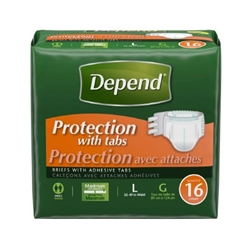 Depends Maximum Protection Fitted Briefs
